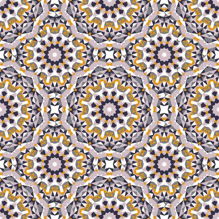 ベクトル大きな抽象花と鮮やかな色にエスニックなカラフルな自由奔放なパターン。アラビア語、インド、モロッコ、アステカ モチーフの幾何学的