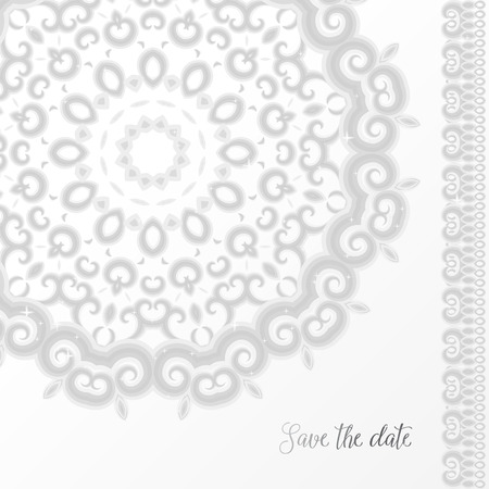 christmas tattoo: Vector illustration of detailed mandala. Winter background for Christmas card. Concept round ornament for yoga studio, wedding invitation, Indian, Arabic or Thai cuisine restaurants ads, tattoo salon
