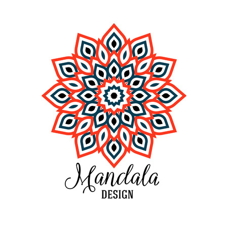 Vector illustration of small detailed mandala. Geometric abstract background.  Concept round ornament for yoga studio, tattoo salon, meditation with Indian, Arabic, ottoman and Moroccan motifs