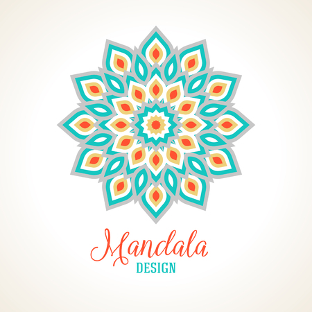 esoteric: Vector illustration of small detailed mandala. Geometric abstract background.  Concept round ornament for yoga studio, tattoo salon, meditation with Indian, Arabic, ottoman and Moroccan motifs
