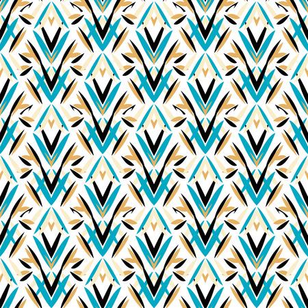 Vector art déco motif avec le style de la mode des années 1920 de motifs floraux. impression simple, chic et élégant avec un décor géométrique à partir des années folles pour invitation de mariage fond en blanc, noir, bleu, or