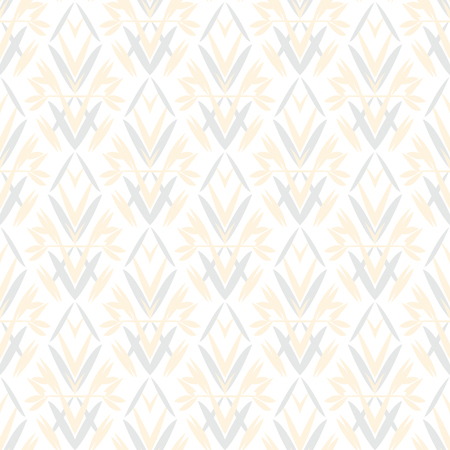 twenties: Vector art deco pattern with floral motifs 1920s fashion style. Simple, chic and elegant print with geometric decor from roaring twenties for wedding invitation background in white, beige, blue