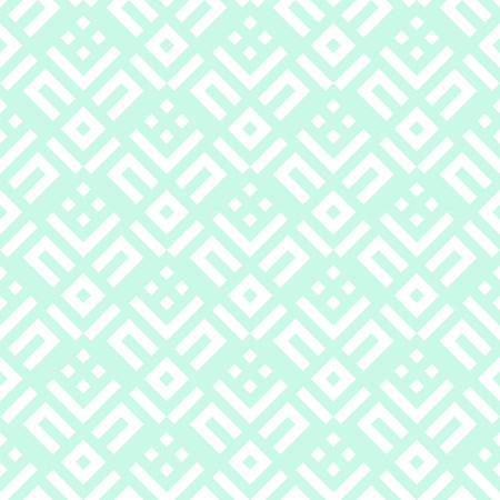 fall fashion: Abstract pattern with stripes and geometric shapes. Seamless geometric modern print in mint green color. Modern textile design with diagonal lines for summer fall fashion. Art deco vector background