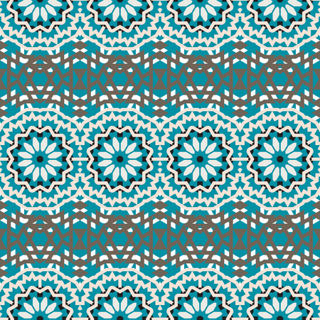 fall winter: Vector tribal colorful bohemian pattern with big abstract colorful flowers. Geometric boho chic background with Arabic, Turkish, Moroccan, Aztec ethnic motif. Bold tribal print for fall winter fashion
