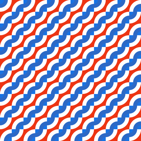 fashion background: Vector geometric seamless pattern with diagonal waves, lines and stripes in nautical color. Striped modern bold print in nautical style for spring summer fashion. Abstract waving sea background Illustration