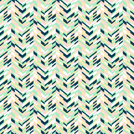 spring fashion: Vector geometric seamless pattern with tech line and zigzags in mint green colors. Striped modern bold print in 1980s retro style for summer spring fashion Abstract techno chevron background