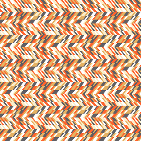Vector geometric seamless chevron pattern with zigzag line and overlapping stripes in bright colors. Striped bold print in hipster style for winter fall fashion. Abstract colorful tech background Vetores