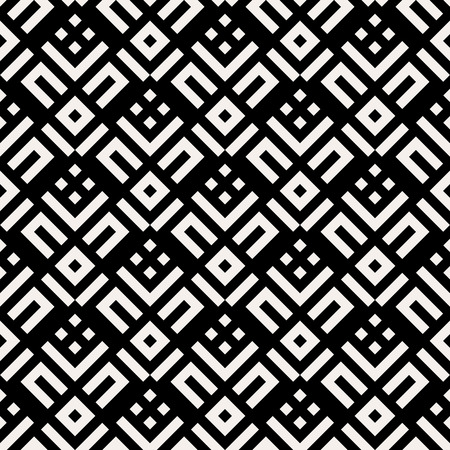 fall fashion: Abstract black and white pattern with stripes and geometric shapes. Seamless geometric modern print in art deco style. Textile design with lines for winter fall fashion. Art deco vector background