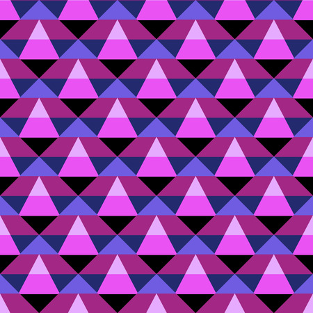 sporty: Abstract geometric color blocked pattern with stripes, squares, random geometric shapes. Vector seamless abstract print in op art style. Pink and purple bold textile design for fall winter fashion Illustration