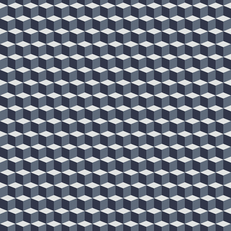 fall winter: Geometric monochrome pattern with cubes in op art style. Bold geometric techno print with blocks. Simple monochrome tech texture for fall winter fashion and textile design. Graphic geometric print