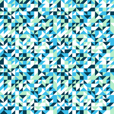 fall winter: Vector geometric seamless pattern with small triangles in bright blue color. Modern bold print with small shapes for fall winter fashion. Abstract dynamic techno op art background. Geometry and mosaic Illustration