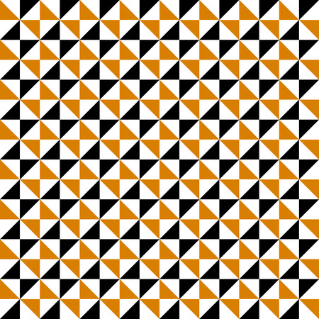 fashion background: Small geometric abstract mosaic pattern with triangle and simple shapes in brown, white, black colors for fall winter fashion. Abstract techno op art background. Seamless vector geometry textile print Illustration