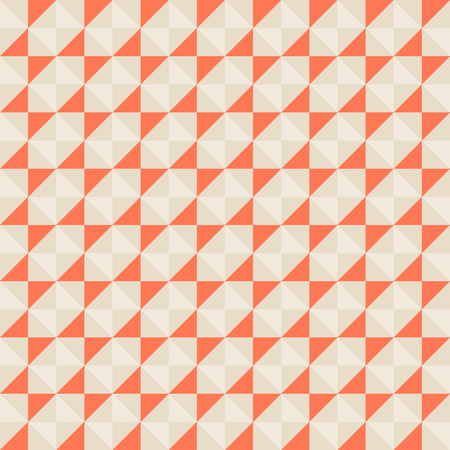 fall winter: Small geometric abstract mosaic pattern with triangles and simple shapes in red, grey, pastel colors for fall winter fashion. Abstract techno op art background. Seamless vector print in memphis style