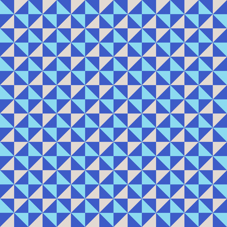 winter fashion: Small geometric abstract mosaic pattern with triangles and simple shapes in grey, white, blue colors for fall winter fashion. Abstract techno op art background. Seamless vector print in memphis style
