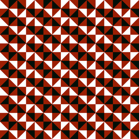 fall winter: Small geometric abstract mosaic pattern with triangles and simple shapes in black, white, brown colors for fall winter fashion. Abstract dynamic techno op art background. Seamless vector textile print