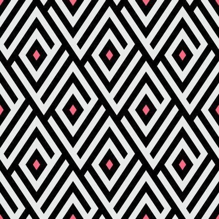 Laberinto patrón con puntos de color rosa