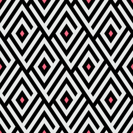 Maze pattern with pink dots Illustration
