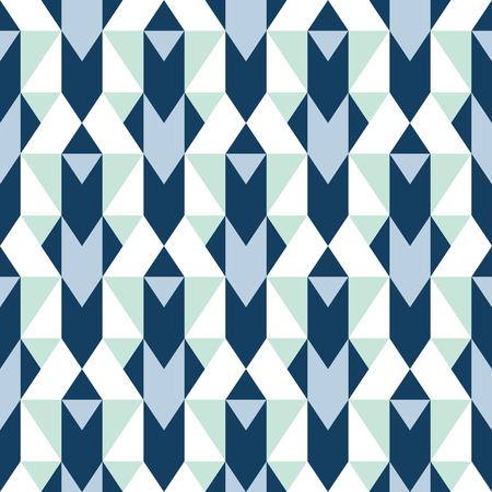 Pattern with stripe, chevron, geometric shapes Illusztráció