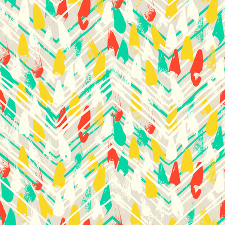 Chevron print with colorful stripes and lines
