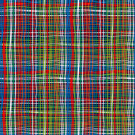 bold plaid pattern with thin brushstrokes