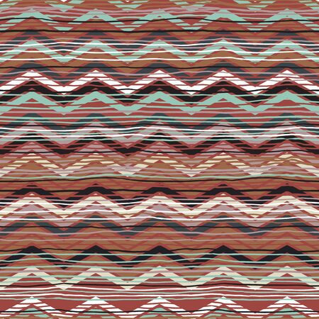 woven: Abstract ethnic chevron print Illustration