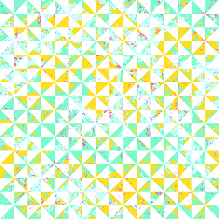 Abstract dynamic retro tiles background.