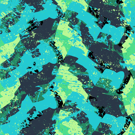 Vector bold color blocked pattern illustration.