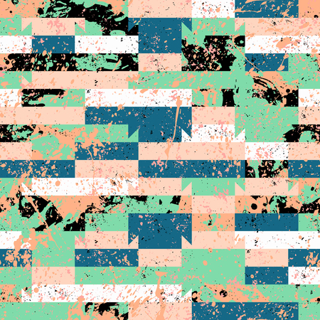 Vector geometric sporty seamless pattern with stripes Фото со стока
