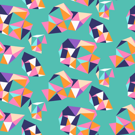 Vivid pattern with composition of geometric shapes. Bold seamless vector pattern in vivid neon colors. Abstract sporty background with shapes in graffiti style for sport fashion. Dynamic techno print