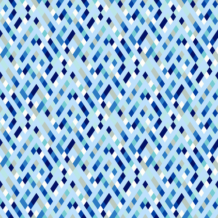 Vector geometric seamless plaid pattern in baby blue color. Small ditsy print with squares, checks and geometric shapes. Baby ditsy abstract background with stripes. Vintage retro background in vector Ilustracja