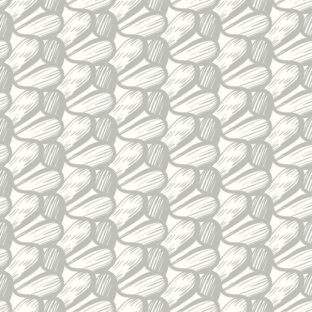 Vector seamless organic pattern with abstract round shapes in sage color. Abstract wavy texture in modern style. Simple hand drawn design with wave and waving lines. Vintage retro print for home decor