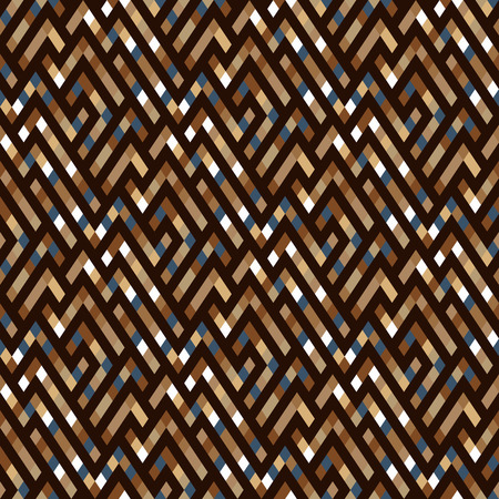 Vector geometric seamless plaid pattern in organic color. Small print with squares, checks and geometric shapes. Sporty abstract background with lines and stripes. Vintage retro background in vector