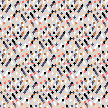 Vector geometric seamless plaid pattern in cute pastel color. Small print with squares, checks and geometric shapes. Sporty abstract background with lines and stripes. Vector vintage retro background Ilustracja