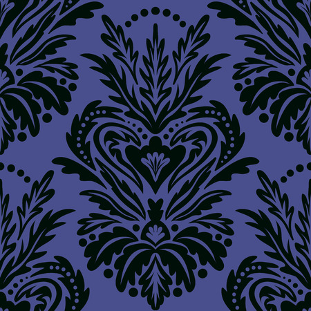 Vector vintage victorian pattern with damask motif Иллюстрация