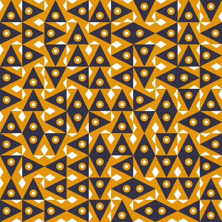 Geometric abstract pattern in midcentury style. Seamless vector