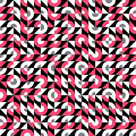 Vector seamless glitch pattern with bold geometric shapes