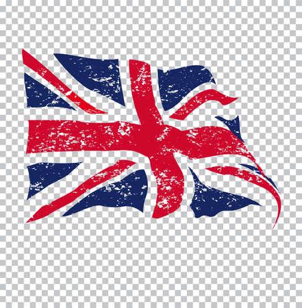 grunge union jack: UK flag
