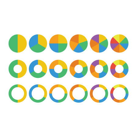 graficos circulares: Pie Charts  Vectores