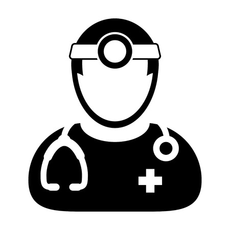 Doctor Icon - Physician, Medical, Healthcare, MD Icon in Glyph Vector illustration