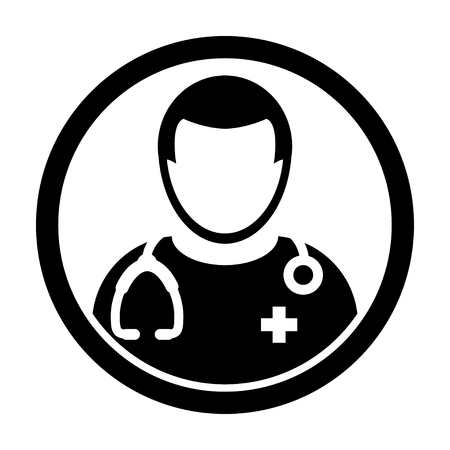 md: Doctor Icon - Physician, Medical, Healthcare, MD Icon in Glyph Vector illustration Illustration