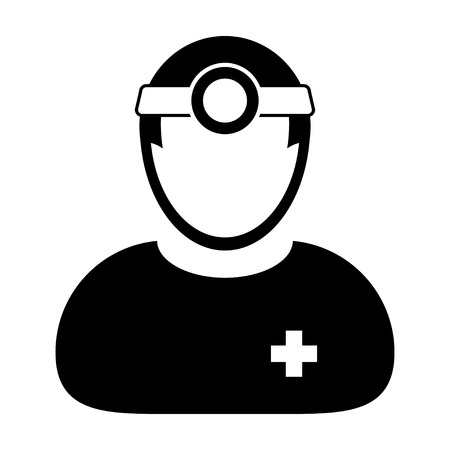 physician: Doctor Icon - Physician, Medical, Healthcare, MD Icon in Glyph Vector illustration Illustration