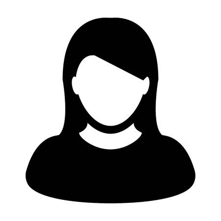 User Icon - Woman, Profile, Businesswoman, Avatar, Person icon in vector illustration