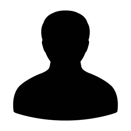 ユーザー アイコン - 男、プロファイル、実業家、アバター、ベクトル図で人アイコン