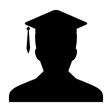 doctorate: Student Icon - Male Graduation, Academic, Education, Degree, Mortar Board icon in glyph vector illustration
