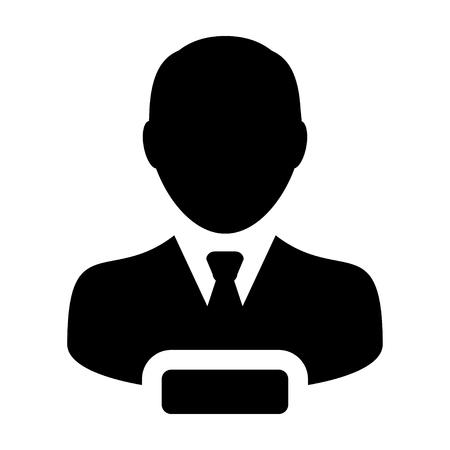 account executive: Remove User Icon - Man, Profile, Businessman, Avatar, Person in Glyph Vector illustration Illustration