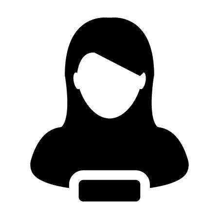 account executive: Remove User Icon - Woman, Account, Avatar, Profile Glyph Vector illustration