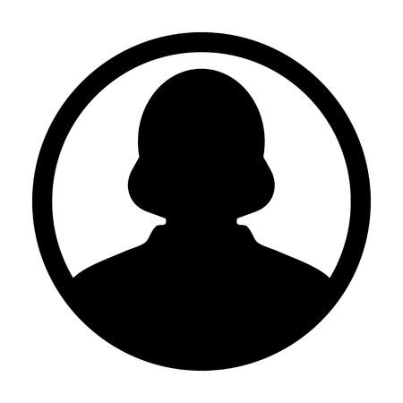 account executive: User Icon - Woman, Profile, Businesswoman, Avatar, Person Glyph Vector illustration Illustration