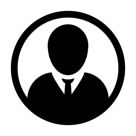 account executive: User Icon - Man, Profile, Businessman, Avatar, Person Glyph Vector illustration