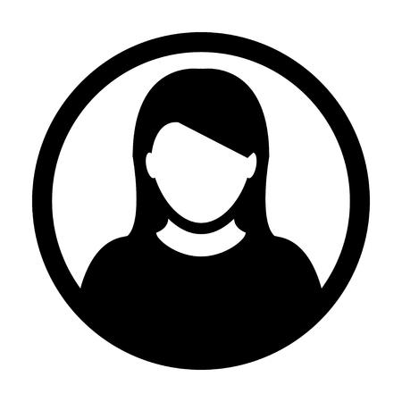 User Icon - Woman, Profile, Businesswoman, Avatar, Person Glyph Vector illustration 向量圖像