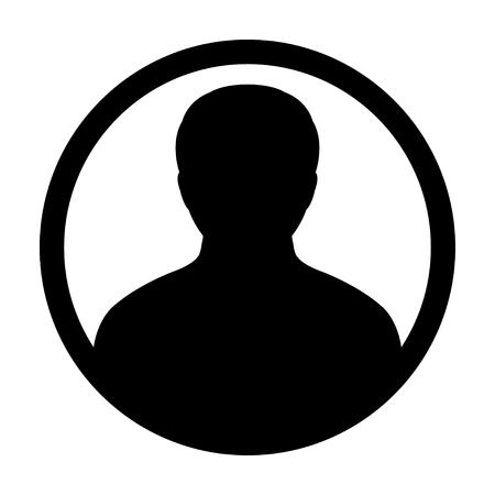 man profile: User Icon - Man, Profile, Businessman, Avatar, Person Glyph Vector illustration